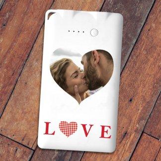 Love heart photo powerbank