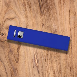 Cuboid Metal Powerbank Blue