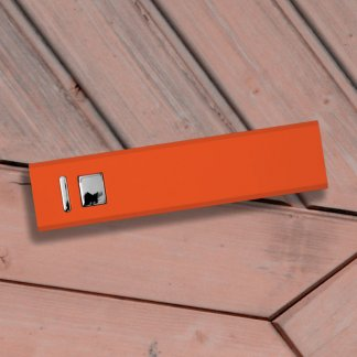 Cuboid Metal Powerbank Orange