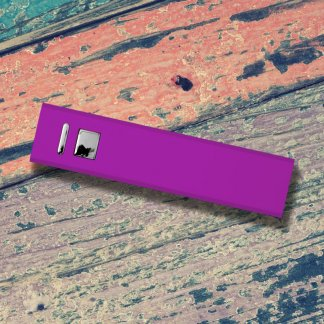 Cuboid Metal Powerbank Purple