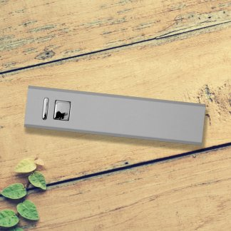 Cuboid Metal Powerbank Silver