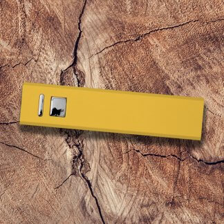 Cuboid Metal Powerbank Yellow