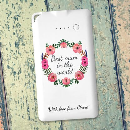 Mothers Day message Flat Powerbank