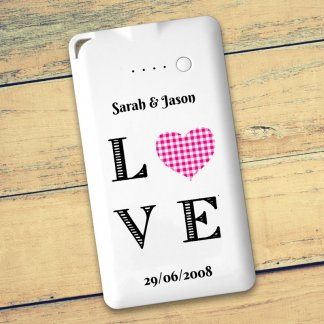 Love heart message powerbank