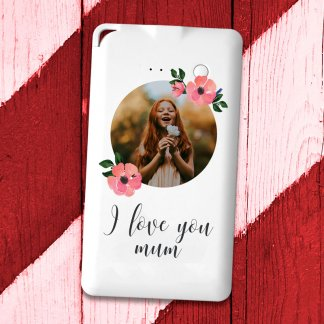 Love you mum photo flat powerbank
