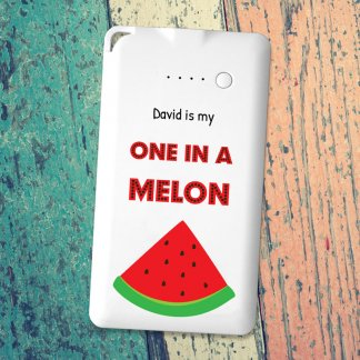 One in a melon flat powerbank