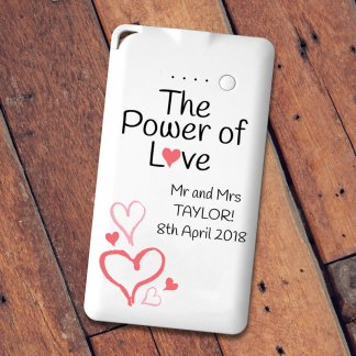 Power of love personalised message powerbank