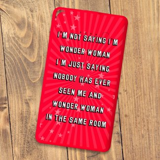 Flat powerbank wonder woman red