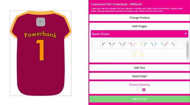 The New Customised Shirt Powerbank