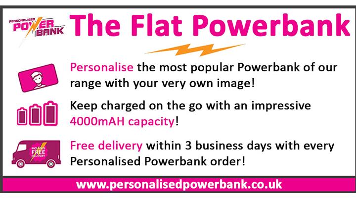 Personalised Flat Powerbank